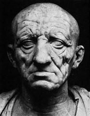 Head of a Roman patrician. Republican Roman. c. 75-50 bce. Marble