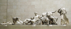 Helios and his horses and Dionysus, East Pediment, Parthenon