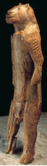 Human with feline head, from Hohlenstein-Stadel, Germany