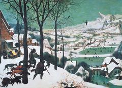 Hunters in the Snow. Pieter Bruegel the Elder. 1565. oil on wood