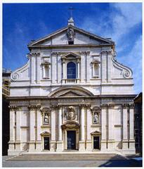 Il Gesu, Rome, Italy. Vignola. façade...Giacomo della Porta