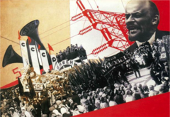 Illustration from the Results of the First Five-Year Plan. Varvara Stepanova. 1932. Photomontage.