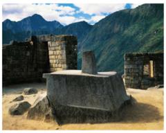 Intihuatana Stone Machu Picchu Peru granite 1450/1550 Intihuatana means