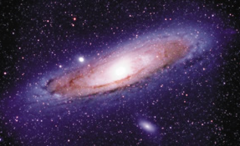 It is a picture of the Andromeda galaxy, located about 2.5 million light-years away.
