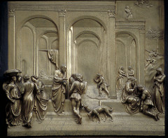 Jacob and Esau by Lorenzo Ghiberti (also known as Jacob and His Sons)  East doors or Baptistry of San Giovanni in Florence, Italy.  1425-1452