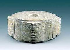 Jade cong. LIangzhu, China 3300-2200 bce carved jade
