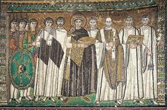 Justinian Mosaic, San Vitale (Early Byzantine)  (Byzantium)
