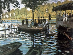 La Grenouillere by Claude Monet, 1869