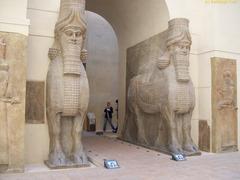 Lamassu , Dur Sharrukin Neo-Assyrian. c. 720-705 BCE. Alabaster