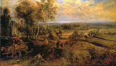 Landscape with Chateau Steen by Peter Paul Rubens, 1636