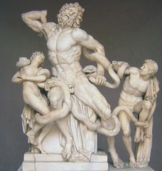 Laocoon and Sons (ATHANADOROS, HAGESANDROS, & POLYDOROS OF RHODES) (Hellenistic)  (Greece)