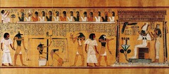 Last judgment of Hu-Nefer, from his tomb. New Kingdom, 19th dynasty. c. 1275.bce painted papyrus scroll