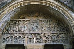 Last Judgment Tympanum, Sainte-Foy, Conques, France, 12th century, limestone (Romanesque Art)