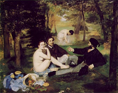 Le Dejeuner sur l'Herbe (Luncheon on the Grass) by Edouard Manet, 1863