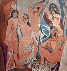 Les Demoiselles d'Avignon. Picasso. 1907. oil on canvas
