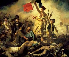 Liberty Leading the People, Eugene Delacroix, 1830, Louvre, Paris,French Romanticism