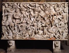 Ludovisi Battle Sarcophagus (Late Empire)  (Rome)