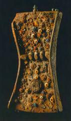 Lukasa. Mbudye Society. Luba peoples. 19th to 20th century ce. wood, beads, and metal.