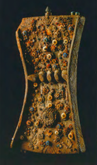 Lukasa (memory board) Mbudye Society, Luba peoples (Democratic Rpublic of the Congo). c. 19th to 20th century C.E. Wood, beads, and metal  More detailed information is conveyed on the front and back of the board. On the lukasa's