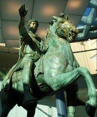 Marcus Aurelius, 175 CE, bronze, Early Imperial Roman Art