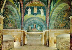 Mausoleum of Galla Placidia, 425, Ravenna, Italy,Early Christian Art