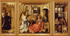 Merode altarpiece. Workshop of Robert Campin. 1427-1432 Oil on wood