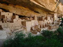 Mesa Verde Cliff Dwellings -Sandstone. -Montezuma County, Colorado. Ancestral Puebloan (Anasazi).  -450-1300 C.E.  function: habitation context: Anasazi Art