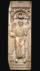 Michael and the Archangel diptych (Early Byzantine)  (Byzantium)