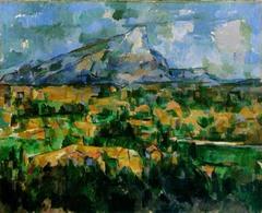 Mont Sainte-Victoire. Cezanne. 1902-1904. oil on canvas.