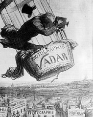 Nadar Raising Photography to the Height of Art. Daumier. 1862. Lithograph
