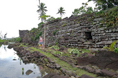 Nan Madol. Pohnpei, Micronesia. Saudeleur Dynasty. 700-1600 ce. Basalt boulders and prismatic columns