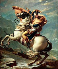 Napolean Crossing the Alps by Jacques-Louis David, 1800-1801