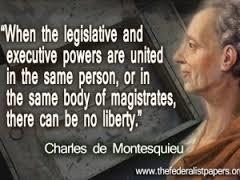 Natural rights : John Locke :: separation of powers :