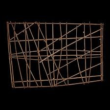 Navigation chart  Marshall Islands, Micronesia. 19th to early 20th century C.E. Wood and fiber  Slopped lines that indicate wave swell show technological advancement in society, intricate weaving