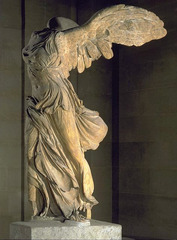 Nike of Samothrace, c.190 BC, marble,Hellenistic Greek