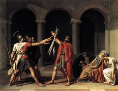 Oath of the Horatii, Jacques-Louis David, 1784, Louvre, Paris,Neoclassicism