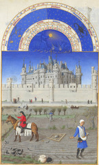 October from Les Très Riches Heures du Duc de Berry by the Limburg Brothers , 1413-1416