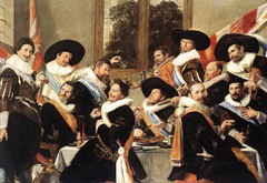 Officers of the Haarlem Militia Company of Saint Adrian, Frans Hals, 1627, Frans Hals Museum,Dutch Baroque Art