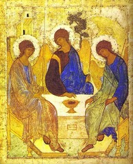 Old Testament Trinity,Andrew Riiblev,c.1410,tempera on wood,Byzantine Art