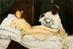 Olympia. Manet. 1863. Oil on canvas