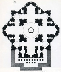 Plan for St. Peters by Michelangelo