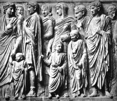 Procession from the Ara Pacis, 13-9 BCE, marble,Early Imperial Roman Art