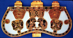 Purse Cover from Sutton Hoo Ship Burial,600-650,gold,Saxon Art