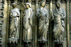 Reims, jamb statues