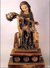 Rottgen Pieta. medieval. c. 1300-1325 ce. Painted wood.