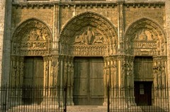 Royal Portals,1145-1155,Cathedral,Chartres,France,Gothic Art
