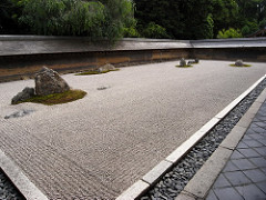 Ryoan-ji. Kyoto, Japan. Muromachi Period, Japan 1480 ce. 18th century. rock garden