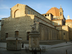 San Lorenzo by Filippo Brunelleschi in Florence, Italy. Exterior view, 1421-1446