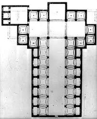 San Lorenzo Plan by Filippo Brunelleschi in Florence, Italy.  1421-1446