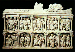 Sarcophagus of Junius Bassus, 359, marble,